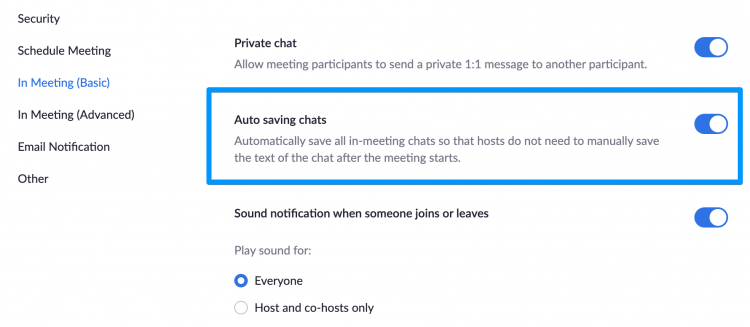 How to auto save chats?